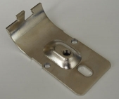 Flat Clamp Hinge A Nickel Drilled for Pneumatic Cylinder