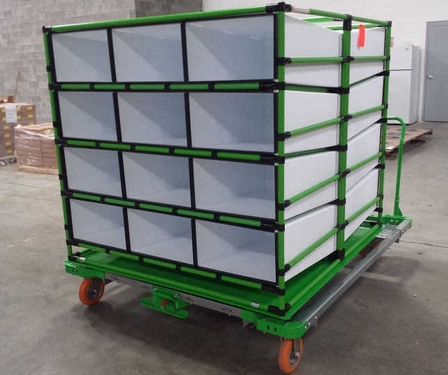 Corrugated Plastic Dunnage Cart 1