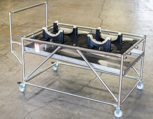 Drip Pan Cart with Dunnage