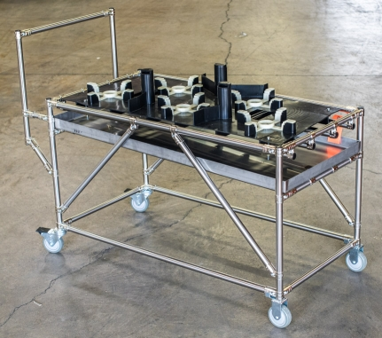 Drip Pan Cart with Dunnage 2