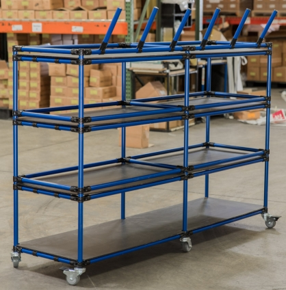 Storage Cart with Coat Hangers