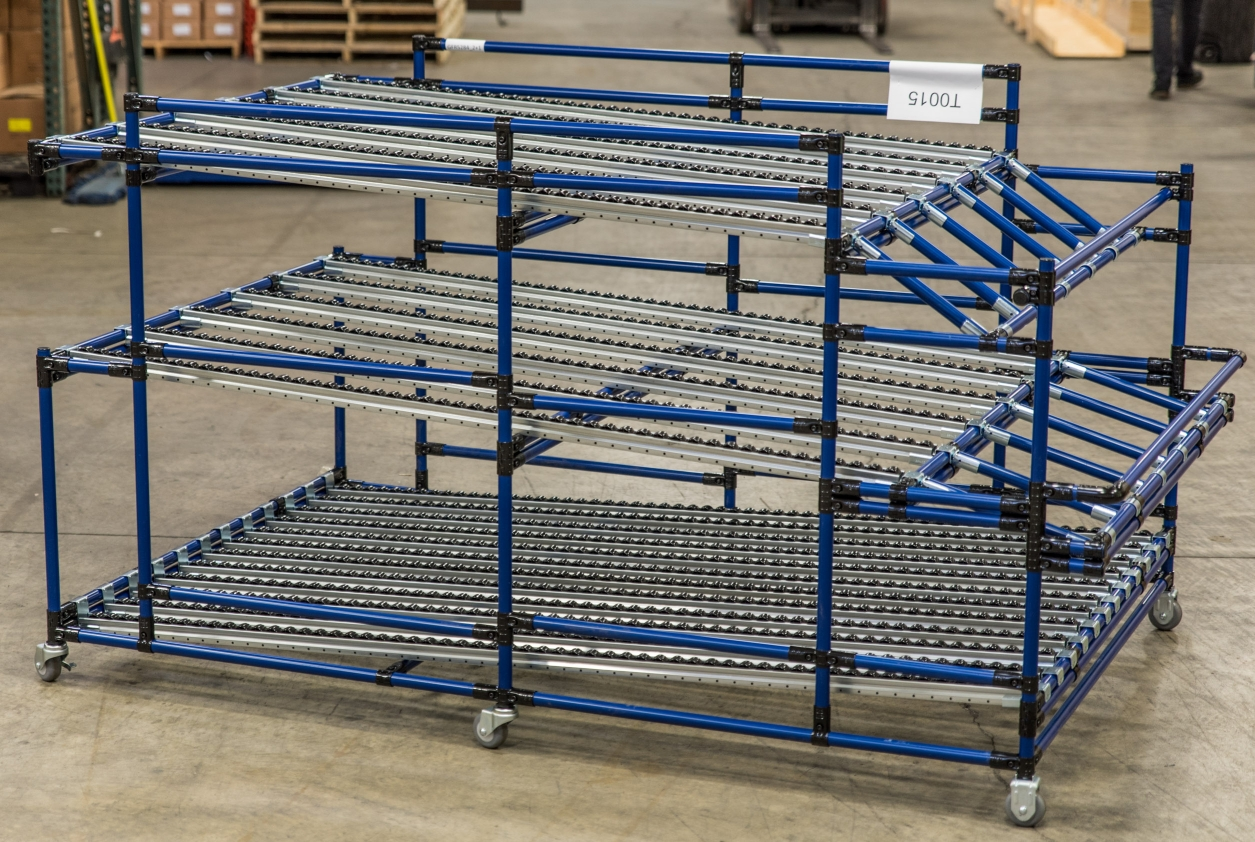 Staggered Flow Rack with Ergonomic Loading 2