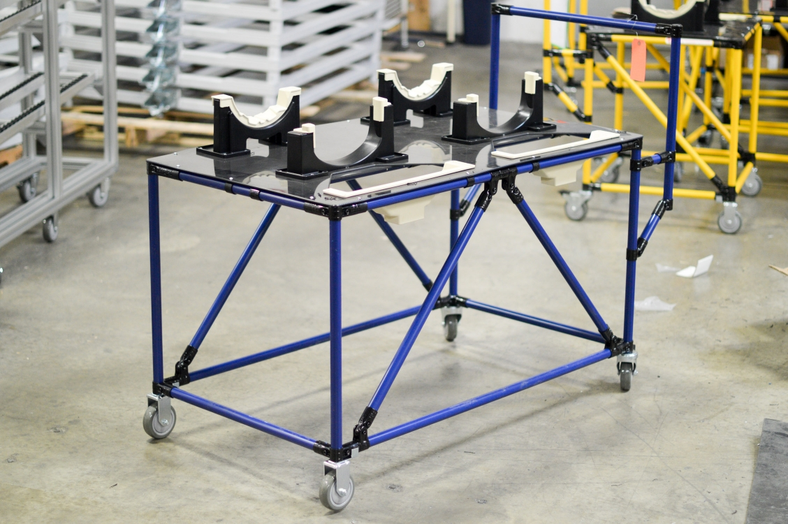Cart with Automotive Dunnage 2