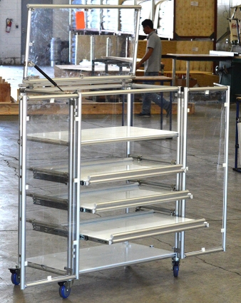 Drawer Cart with Doors