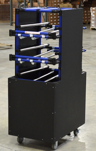 Slide Pipe Flow Rack with Covering