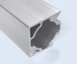 4 Meter 28mm 2-Sided 90 Degree Square Aluminum Pipe