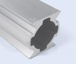 4 Meter 28mm 2-Sided 180 Degree Square Aluminum Pipe