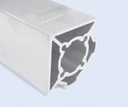 4 Meter 40mm 2-Sided 90 Degree Square Aluminum Pipe