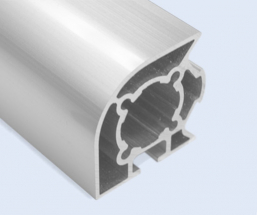 4 Meter 40mm 2-Sided Round 1-Sided T-Slot 90 Degree Square Aluminum Pipe