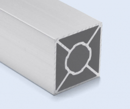 4 Meter 45mm 4-Sided Square Aluminum Pipe