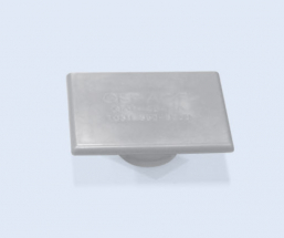 End Cap for 45mm Aluminum Square Pipes White