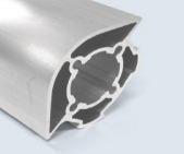 4 Meter 40mm 2-Sided Round 90 Degree Square Aluminum Pipe